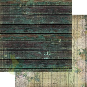Papier 30x30 13arts Grungy walls Washed wood