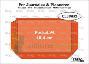 Wykrojnik Crealies For Journalzz & Plannerzz  Pocket Kieszonka M 10,5x6,5cm
