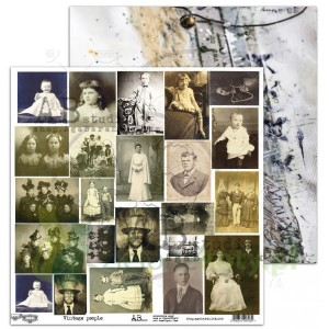 Papier 30x30 AB Studio Vintage people elementy do wycinania