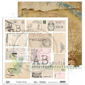 Papier 30x30 AB Studio Vintage things elementy do wycinania