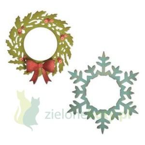 Wykrojnik Sizzix Thinlits Wreath & Snowflake
