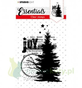 Stempel akrylowy Studio Light  Choinka Joy