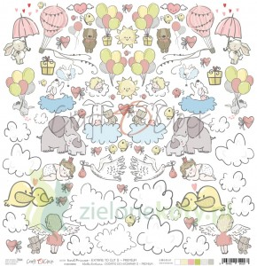 Papier 30x30 Craft o Clock Sweet Princess dodatki do wycinania II Premium