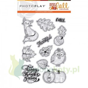 Stempel akrylowy PhotoPlay  MAd 4 plaid fall - jesień