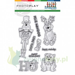 Stempel akrylowy PhotoPlay The Muttcracker - Świąteczne psy