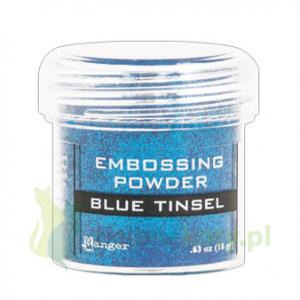 Puder do embossingu Ranger Blue Tinsel brokatowy niebieski