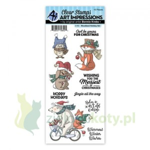 Stemple Art Impressions Woodland Holiday Set