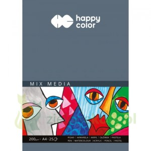 Blok papier MIX MEDIA Happy Color A4 200g 25k