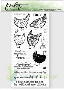 Stempel akrylowy Picked Fence Studio One hot chick kury