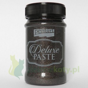 Pasta brokatowa Pentart Deluxe Paste 100ml antracyt