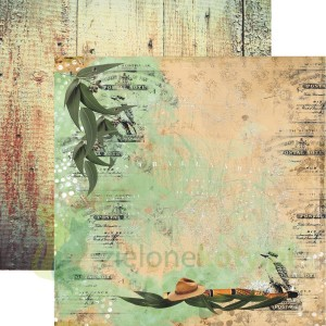 Papier  30x30 13arts  Down Under 01 Didgeridoo