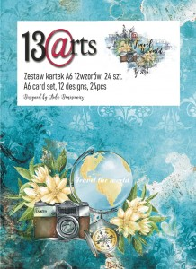 Zestaw papierów A6 13arts  Travel the world