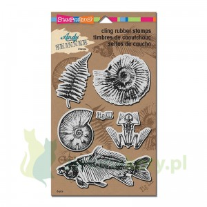 Stempel cling gumowy Stampendous Fossils paproć