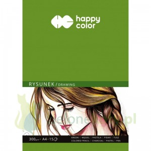 Blok papier  Happy Color A4 300g 15k rysunek, mixed media