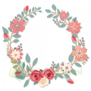 Wykrojniki Sizzix Thinlits Wedding wreath wianek