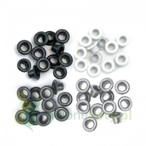 "Nity We R Memory Keepers Grey eyelets  5mm (3/16"") 60szt szare"