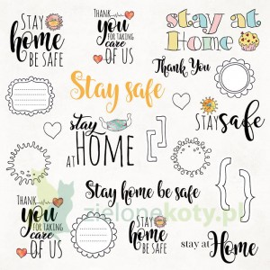 Papier 30x30 Craft&You Stay at home 07