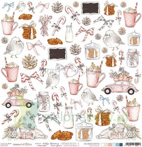Papier 30x30 Craft o Clock Frosty Sparking Dodatki do wycinania  02