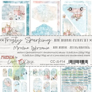 Zestaw dodatków Junk Journal Set  Craft o Clock Frosty Sparking