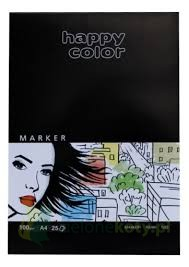 Blok do markerów Happy Color A4 100g 25k