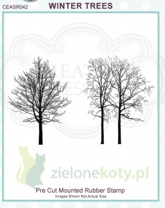 Stempel Creative Expressions Winter Trees Drzewa