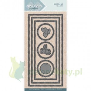 Wykrojnik Card Deco Essebtials Slimline Hearts