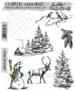 Stemple gumowe Tim Holtz Winterscape zima