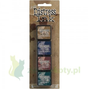 Tusz Mini Distress  Ink Pad kit #12 zestaw 4szt