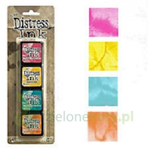 Tusz Mini Distress  Ink Pad kit #1 zestaw 4szt
