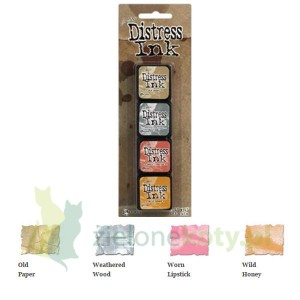 Tusz Mini Distress  Ink Pad kit #7 zestaw 4szt