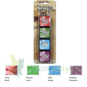 Tusz Mini Distress  Ink Pad kit #2 zestaw 4szt
