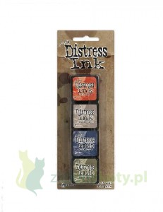 Tusz Mini Distress  Ink Pad kit #5 zestaw 4szt