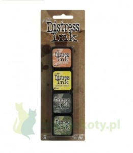 Tusz Mini Distress  Ink Pad kit #10 zestaw 4szt