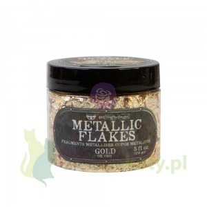 Płatki do złoceń Prima  Finnabair Art Ingredients Metallic Flakes Gold złote 150ml