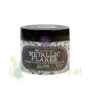 Płatki  do złoceń Prima  Finnabair Art Ingredients Metallic Flakes Silver srebrne 150ml