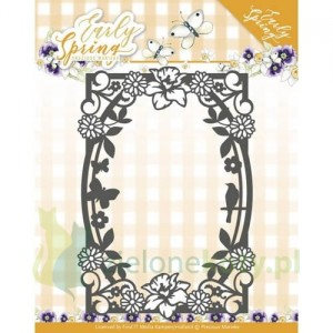 Wykrojnik Precious Marieke Early Spring Spring Flowers Rectangle Frame - ramka, kwiaty x