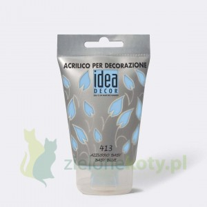 Farba akrylowa Maimeri Idea Decor 110ml  413 baby blue błękit