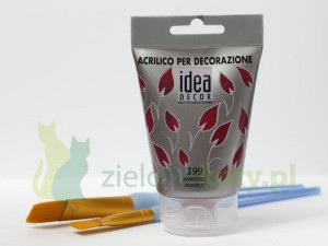 Farba akrylowa Maimeri Idea Decor 110ml 199 purpurowy