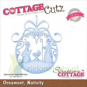 Wykrojnik Cottage Cutz Ornament Nativity szopka bombka
