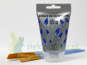 Farba akrylowa Miameri Idea Decor 110ml Cyjan 418