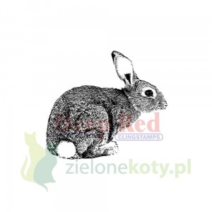Stempel gumowy cling Deep Red Bunny Rabbit zając